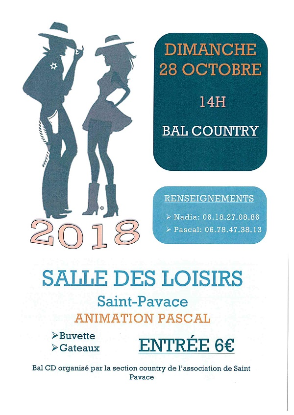 affiche bal country