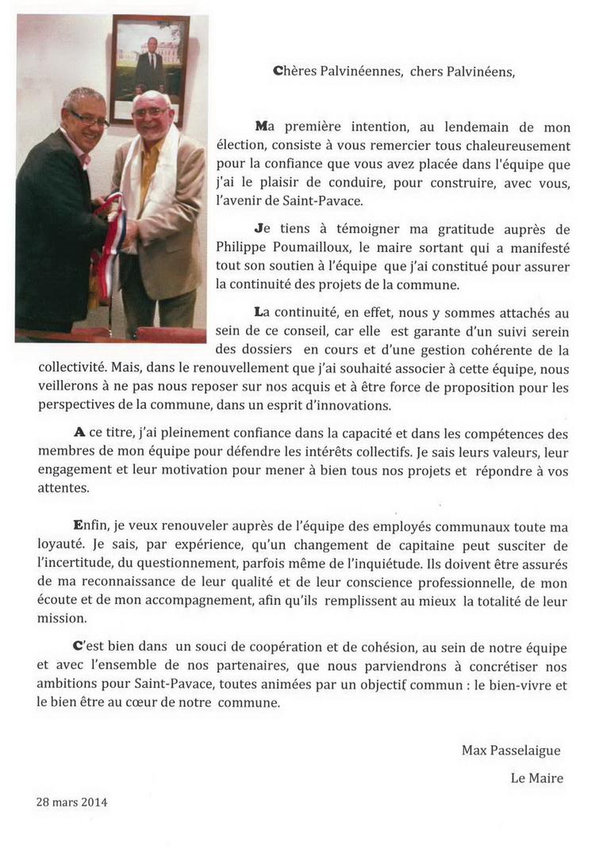 Le mot du maire | Mairie de Saint Pavace